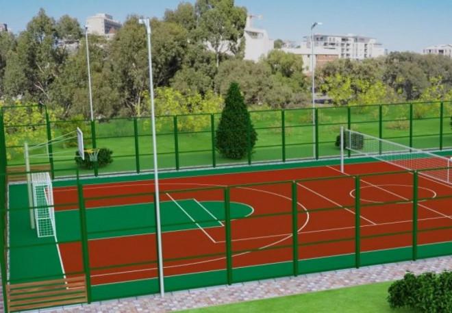 В області збудують 6 мультифункціональних спортивних майданчики